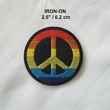 PEACE Sign Hippie Embroidery Iron-on Emblem Boho Badge Love Patch Retro Applique