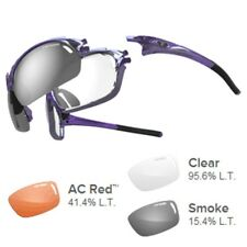 Tifosi Launch F.H. AC Red trade /Clear/Smoke Lens Sunglasses - Crystal Purple