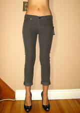Seven 7 For All Mankind Josefina Skinny Boyfriend Corduroy Cords Pants Gray 25