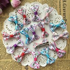 10pcs=5pair Dog handmade Hairpins Pet Bow Tie Hair Clips Puppy cat DOGS Bowknot