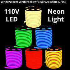 3'-330' Commercial LED Neon Rope Lights Flex Tube Sign Decorative Outdoor Home