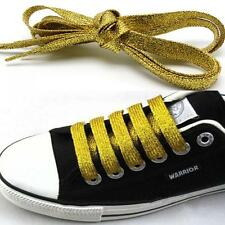 4Colors Metallic Glitter Flat Shoelaces Canva Sneaker Athletic Boot Shoe 45 inch