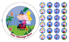 Ben & Holly Personalised Edible Icing & Wafer/Ricepaper Cake & Cupcake  Toppers