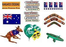 Australian Day Party Supplies G'Day Mate Aussie Kanagroo Cutouts Green Yellow