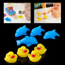 4x Baby Kids Bath Bathing Duck Dolphin Colorful Flashing Changing Light Lamp Toy