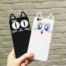 Soft Protective 3D Cat Ear TPU Soft Back Case Cover For  iPhone 6 6S 7 Plus