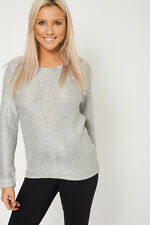 Loose Knit Sequin Knitted Jumper