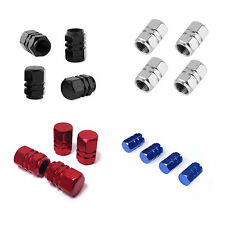 4 X ALL COLORS ALUMINIUM VALVE DUST CAPS METAL FOR CAR MOTORBIKE BIKE VAN BMX
