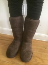 UGG Australia Classic Tall Dark Brown Suede Boots Size 7