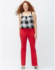 New Lane Bryant Sophie Red Stretch Bootcut Pant Plus Size 24 26 28