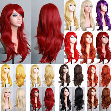 Fashion Womens Long Hair Wig Curly Wavy Synthetic Anime Cosplay Party Full Wigs