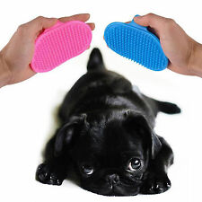 Rubber Pet Cat Dog Shower Bath Brush Hair Comb Cleaning Grooming Massage Glove