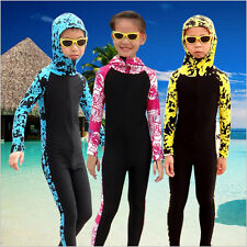 Boys Girls Scuba Diving Wetsuit Suits for Kids Long Sleeve Hooded Swimming Surf
