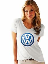 VW LOGO  T-SHIRT   FRUIT OF THE LOOM LADIES T-SHIRT NEW PRINT BY EPSON