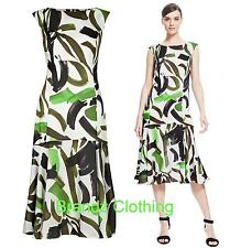 BRAND NEW M&S AUTOGRAPH CONTRAST PRINT MIDI DRESS RRP £69 SIZES 10,12,14