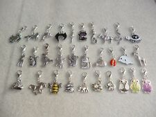 Handmade Animal Clip-On Silver Charms Fox Bee Cat Owl Elephant Crab Mouse