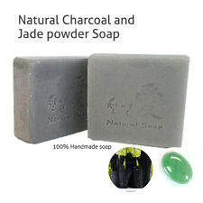 Gangwon, Handmade Soap, Charcoal & Jade Powder Soap with natural vegetable oil