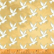 Windham Fabrics - Faith by Whistler Studios Gold Doves 43027-2