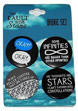 The Fault in our Stars Film Badges Pins SET of 4