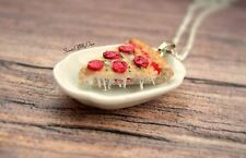 Pizza Necklace - Pizza Slice - Food Jewellery - Choose Style - Handmade in UK wi