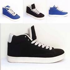 WOMENS GIRLS MID HI TOP SUEDE EFFECT TRAINERS BLAZERS VINTAGE SPORTS HIGH TOPS