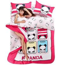 Single Queen King Size Bed Set Pillowcase Quilt Duvet Cover CAUOZ Angry Panda