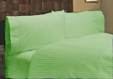 Hotel Bedding Collection-Duvet/Fitted/Flat 1000TC Egyptian Cotton Sage Striped