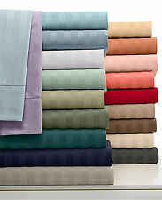UK Home Bedding Collection 1000 TC Egyptian Cotton Emperor Size Striped Colors