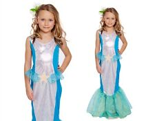 NEW GIRLS MERMAID FANCY DRESS COSTUME PRINCESS FAIRYTALE LITTLE CHILDS OUTFIT