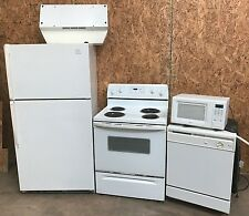 Whirlpool Kitchen Appliance LOT Refrigerator Stove Dishwasher 5 pc Commercial