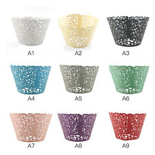 50pcs Filigree Little Vine Lace Laser Cut Cupcake Wrapper Liner Baking Cup TF