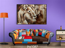 "HD Print on Canvas Painting Home Decoration Wall Art animal lion ""50x70cm"""