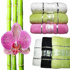 Guests towel Towel Bath Towel Bamboo 30x50 50x90 70x140 Many Colours soft