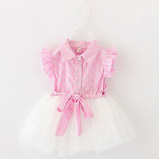 Fashion Baby Girl Clothes Newborn Toddler Infant Flower Dress Summer Outfit Cute