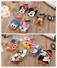 Disney Cartoon Animal Clear TPU Soft Back Case Cover Skin For iPhone 6 6S 7 Plus