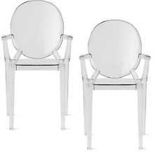Louis Ghost Chairs SET OF 2 CRYSTAL Starck Kartell Modern  Design Within Reach
