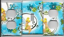 Tinkerbell in Light Blue Light Switch Cover and Electrical Outlet Plates