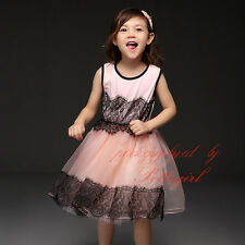 Baby Girl Lace Tulle Princess Dress Kids Sleeveless Summer Party Wedding Dresses