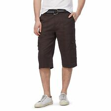 Maine New England Mens Big And Tall Brown Belted Cargo Shorts From Debenhams