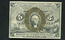 FR. 1232 5 FIVE CENTS SECOND ISSUE FRACTIONAL CURRENCY NOTE XF/AU
