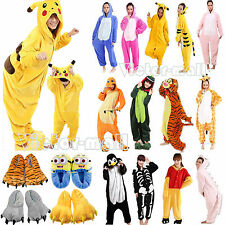 Kids/Adults Animal Onesies Pajamas/Slippers Kigurumi Jumpsuit Cosplay Costume