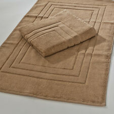 Set of 2 Bathroom Rugs in Many Solid Colors 21x33 Plush Cotton Luxury Bath Mat