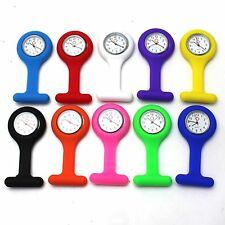 Portable Fob Watch Brooches Silicone Nurse Pocket Quartz Analog Watches Clip-on