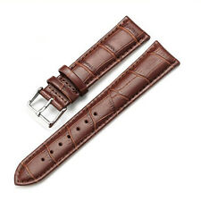 Mens Genuine Leather Watch Strap Band Croco S.Steel Buckle and 3 Spring Bars uk