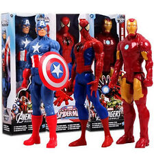 Avengers Marvel Figures Spider-Man Captain Iron Man Wolverine Thor Kids Toy Gift