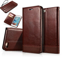 Leather Slim Wallet Flip Magnetic Case Cover Stand For Apple iPhone 6 6S Plus