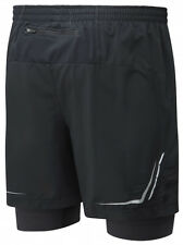 RONHILL Mens ADVANCE Twin Skin, Stretch Fit, Back Pocket, Sports Running SHORTS