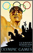 Berlin Germany 1936 Olympic Vintage Poster Print Summer Games Sports Travel