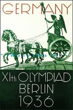 Berlin Germany 1936 Olympiad Vintage Poster Print Summer Games Sports Travel