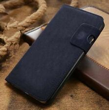 Magnetic Blue Magnetic Flip Wallet Swede Leather Case For iPhone 6 6s {{dw306